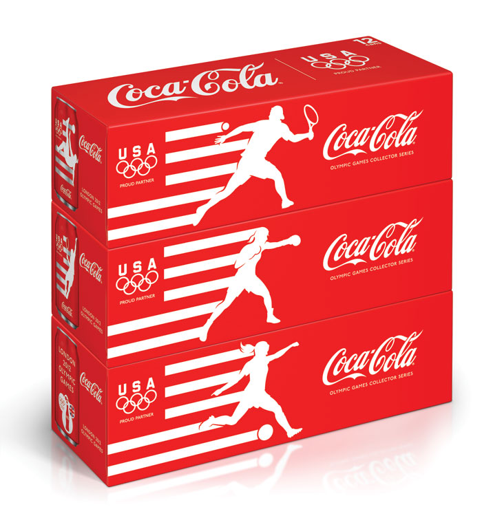 2012 Olympics Coca Cola limited edition cans by Darren Whittington