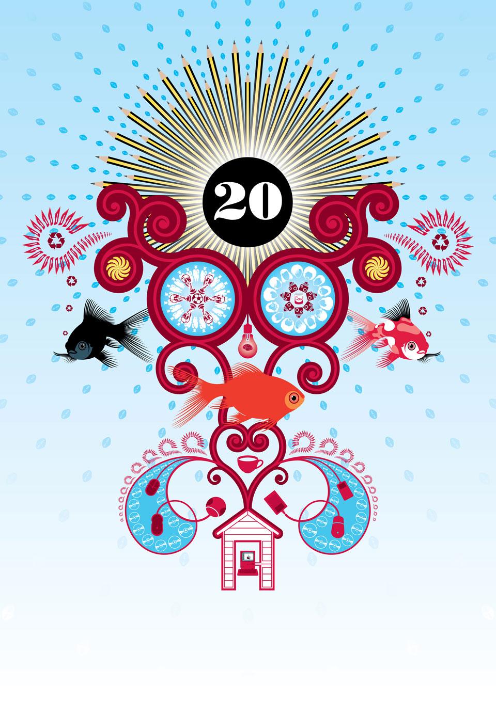 Gendall-Design-20th-Birthday-Poster-by-Darren-Whittington