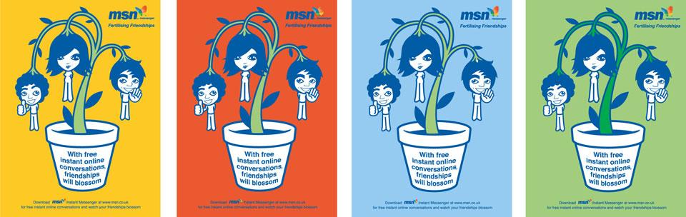 MSN-Messenger-Fertilizing-Friendships-Colourways-illustrations-by-Darren-Whittington