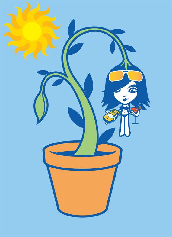 MSN-Messenger-Fertilizing-Friendships-'Mobile'-illustration-by-Darren-Whittington