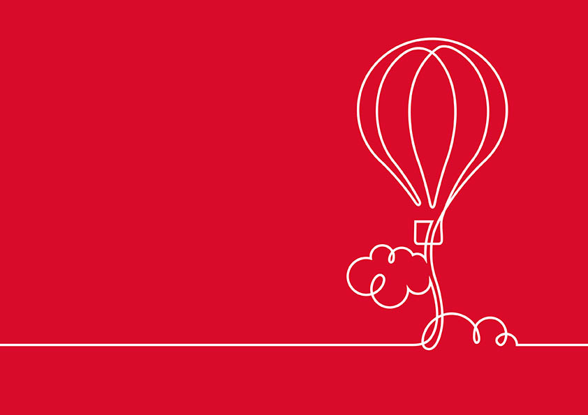 Hot air balloon illustration by Darren Whittington