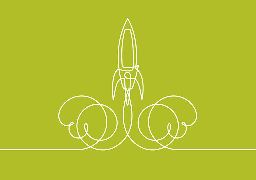 Rocket illustration by Darren Whittington